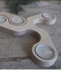 nBougeoir design pour bougie d'ambiance Tesela