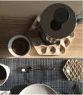 Dessous de plat design en bois Drops