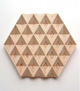 Dessous-de-plat design en bois Diamonds