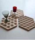 Dessous de plat design en bois Points