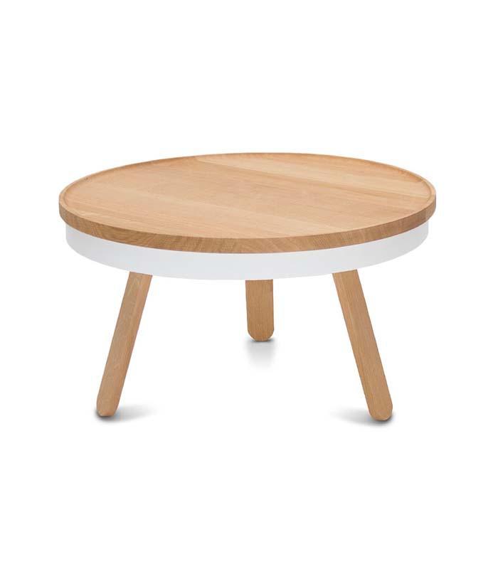 Table basse trois pieds et plateau de style nordique batea for Table basse trois pieds