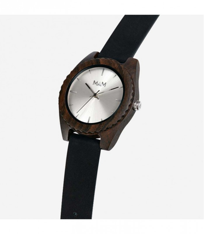 Reloj de madera de dise o elegante mal silver edition - Relojes de diseno ...