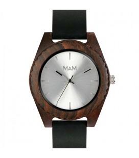Reloj de madera de diseño elegante - Malú Silver edition para mujer