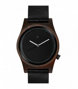 Reloj de madera de diseño - Colección para mujer LITTLE OWL LEATHER