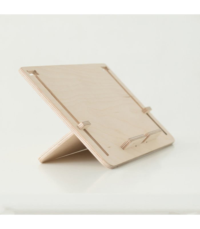 support en bois pour tablette e book ou livre detablet. Black Bedroom Furniture Sets. Home Design Ideas
