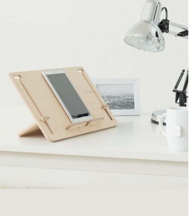 Soporte de madera para tu tablet, e-book o libro convencional - Detablet