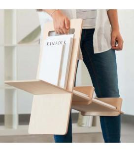 Porte-revues, porte-livres minimaliste en bois - Debook