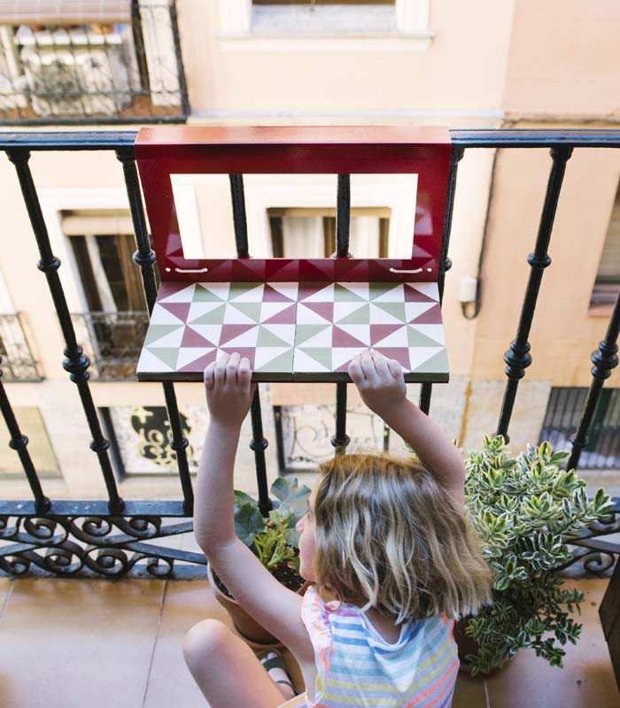 Mosaicos hidraulicos lnea stock mosaicos hidraulicos for Mesa colgante para balcon