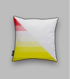 Coussin diagonale - rouge, jaune
