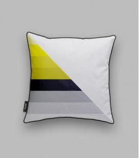 Coussin diagonale - noir, jaune