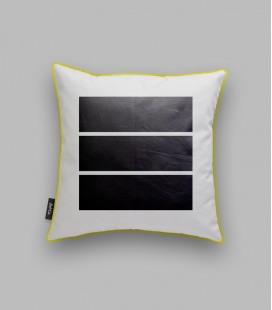 Coussin rectangles noirs