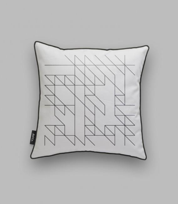 Coussin lignes géométriques