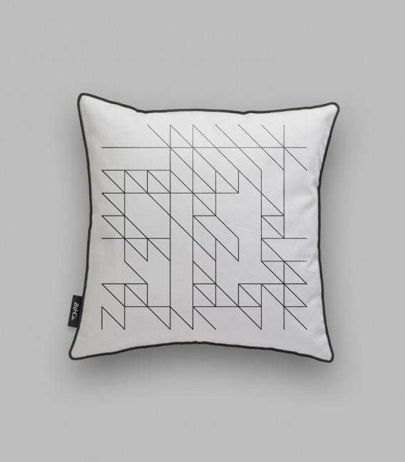 Cojín líneas geométricas